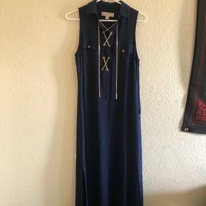 Maxi dress Michael Kors navy